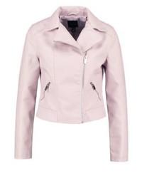Faux leather jacket light pink medium 3993137
