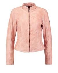 Leather jacket dusty rose medium 3993097