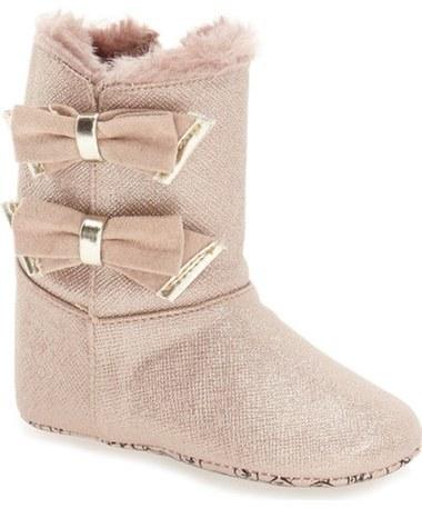 MICHAEL Michael Kors Infant Girls Michl Michl Kors Baby Joan Sparkly Faux Fur Bootie