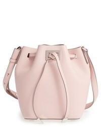 Michael Kors Michl Kors Small Miranda Leather Bucket Bag Beige