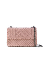 Bottega Veneta Desert Rose Intrecciato Calf Small Olimpia Bag 85784002b0d57