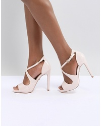 Lipsy Platform Sandal With Cross Over Detail