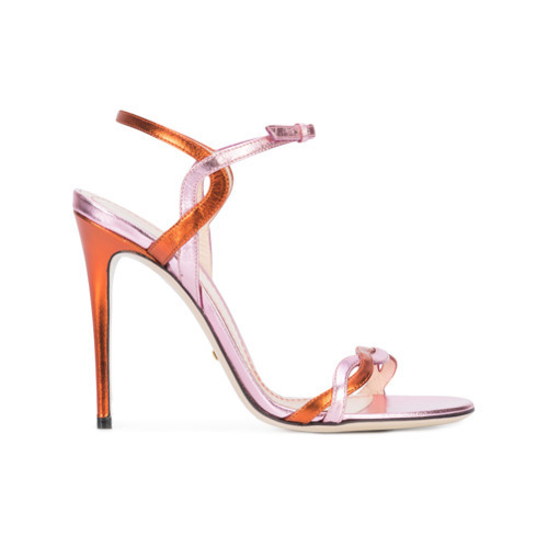 518c54ec61437f ... Gucci Vintage Strappy Heeled Sandals ...