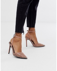 ASOS DESIGN Pixie Pointed High Heels With Studs
