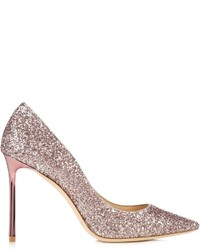 Jimmy Choo Romy 100mm Glitter Pumps