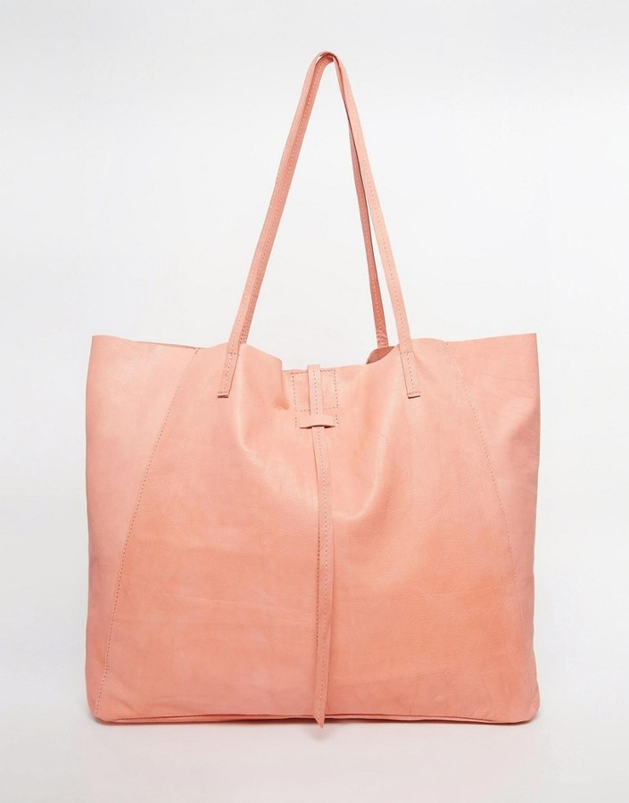 5afb32bbb2 Asos Unlined Leather Shopper Bag With Tie Detail, £40 | Asos ...