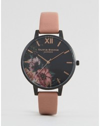 Olivia Burton After Dark Leather Watch Ob15fs60
