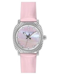 Ted Baker London Mini Jewels Crystal Index Patent Leather Strap Watch 26mm
