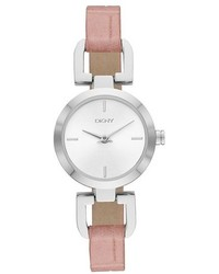 DKNY Reade Embossed Leather Strap Watch 24mm