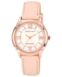 Anne Klein Roman Numeral Leather Watch 35mm