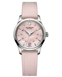 Swiss Army Victorinox Alliance Round Leather Strap Watch 30mm