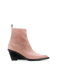 MM6 MAISON MARGIELA Ankle Height Wedge Boot