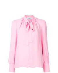 MSGM Pussy Bow Blouse