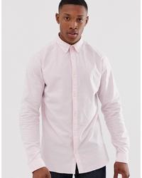 Jack & Jones Premium Shirt In Pink Stretch Cotton