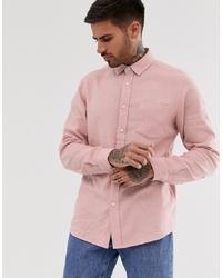 ASOS DESIGN Regular Fit Pink Marl Shirt