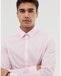 New Look Regular Fit Poplin Shirt In Light Pink