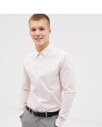 ASOS DESIGN Tall Skinny Shirt With Collar Detail