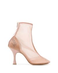 MM6 MAISON MARGIELA Sheer Ankle Boots