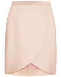 Stella McCartney Kravitz Satin Twill Wrap Effect Skirt