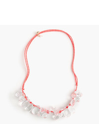 J.Crew Girls Crystal Rope Cord Necklace