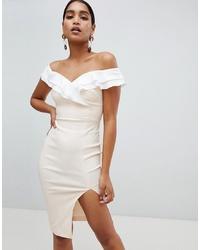 Vesper Bardot Split Front Dress