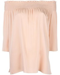 Theory Off Shoulders Ruffled Blouse