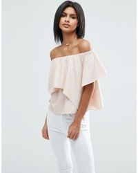 Asos Tiered Off Shoulder Top