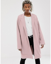 ASOS DESIGN Oversized Jersey Duster Jacket In Pink