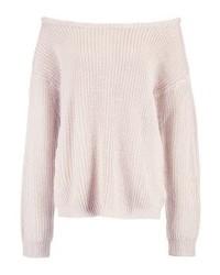 Ophelita off shoulder jumper nudeoatmeal medium 4256838