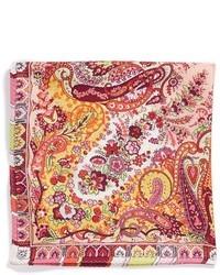 Pink Paisley Silk Pocket Square