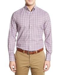 Eton Contemporary Fit Long Sleeve Plaid Sport Shirt