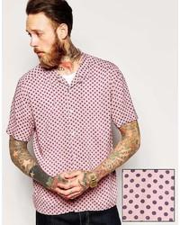 Pink Polka Dot Short Sleeve Shirt