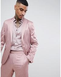 ASOS DESIGN Slim Suit Jacket In Mink Sa Print