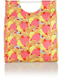Pink Print Canvas Tote Bag