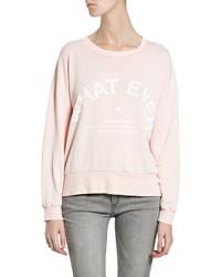 Pink Print Crew-neck Sweater