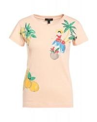 J.Crew Andalucia Banana Print T Shirt Sunfaded Peach