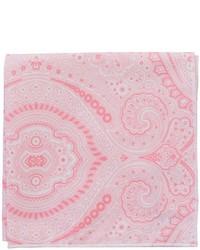 Pink Print Pocket Square