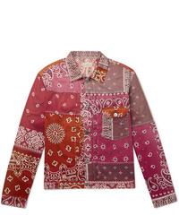 KAPITAL Patchwork Bandana Print Cotton Blend Jacket