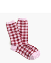 J.Crew Trouser Socks In Gingham Print
