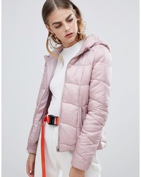 Bershka Light Weight Hooded Padded Jacket