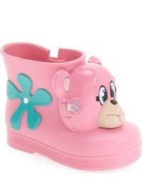 Mini Melissa Toddler Girls Jeremy Scott Monkey Water Resistant Boot
