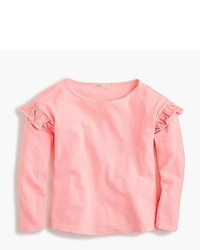 Pink Ruffle Long Sleeve T-Shirt