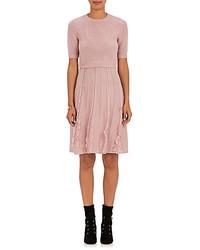 Pink Ruffle Sweater Dress
