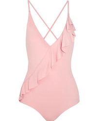 Marysia Swim Marysia Palisades Ruffle Trimmed Swimsuit Antique Rose