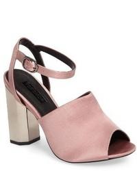 Topshop Regina Satin High Heel Sandal