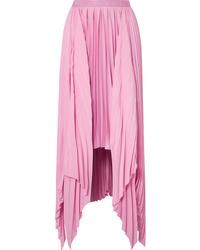 Pink Satin Maxi Skirt