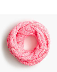 J.Crew Girls Cable Knit Neon Infinity Scarf