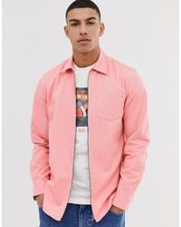 Jack & Jones Originals Zip Through Overshirt In Pink