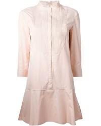 Nina Ricci Ribbed Bib Shirt Dress