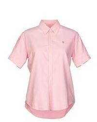 Pink Short Sleeve Button Down Shirt
